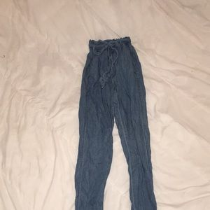 Thin Denim Paperbag Jeans